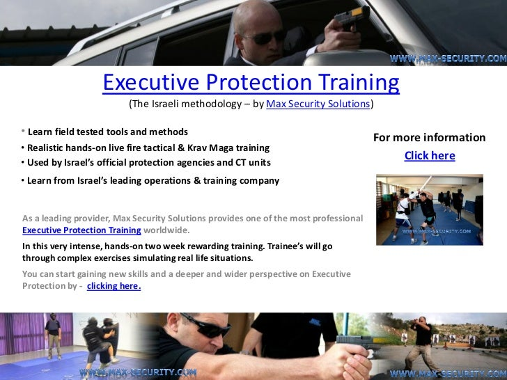 Executive Protection Training