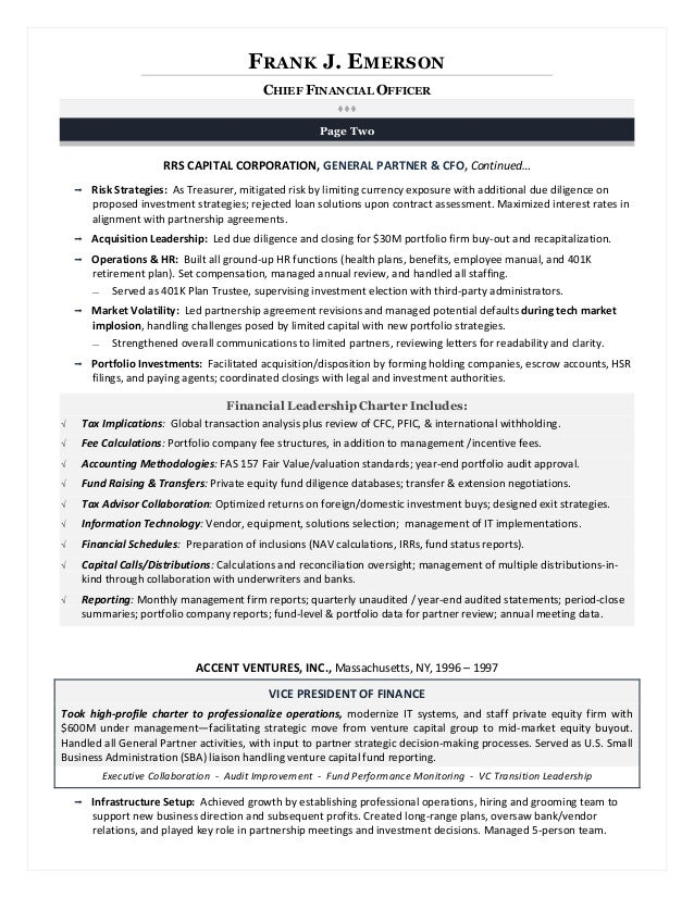 executive resume writing for results