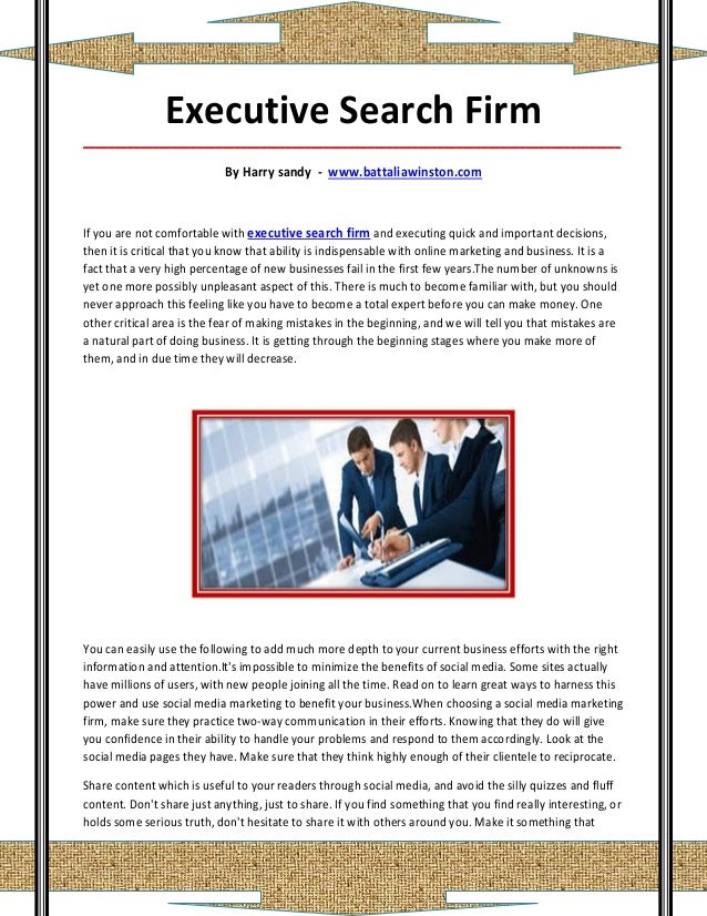 Executive Search Firm_____________________________________________________________________________________                ...