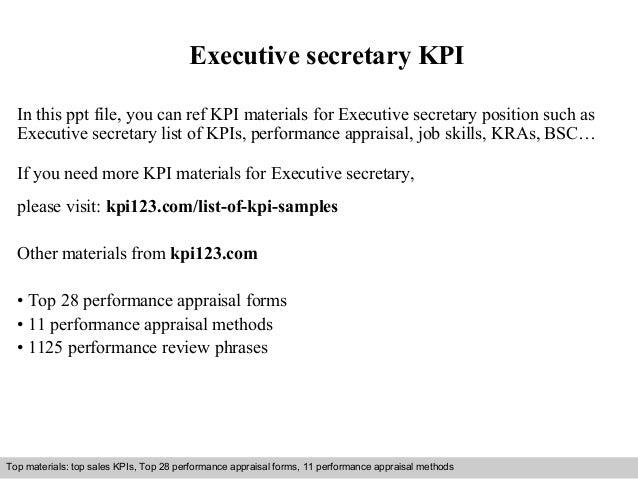 Executive Secretary Kpi
