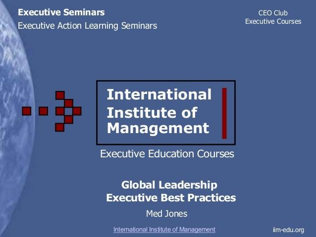 Executive Seminar Global Leadership Nissan Case Study