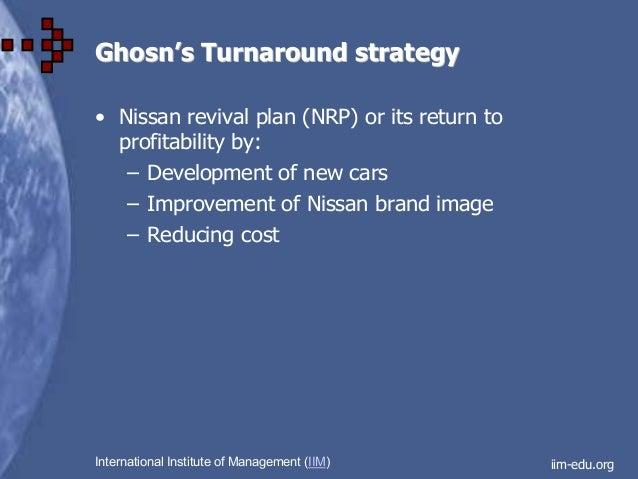 nissan turnaround strategy