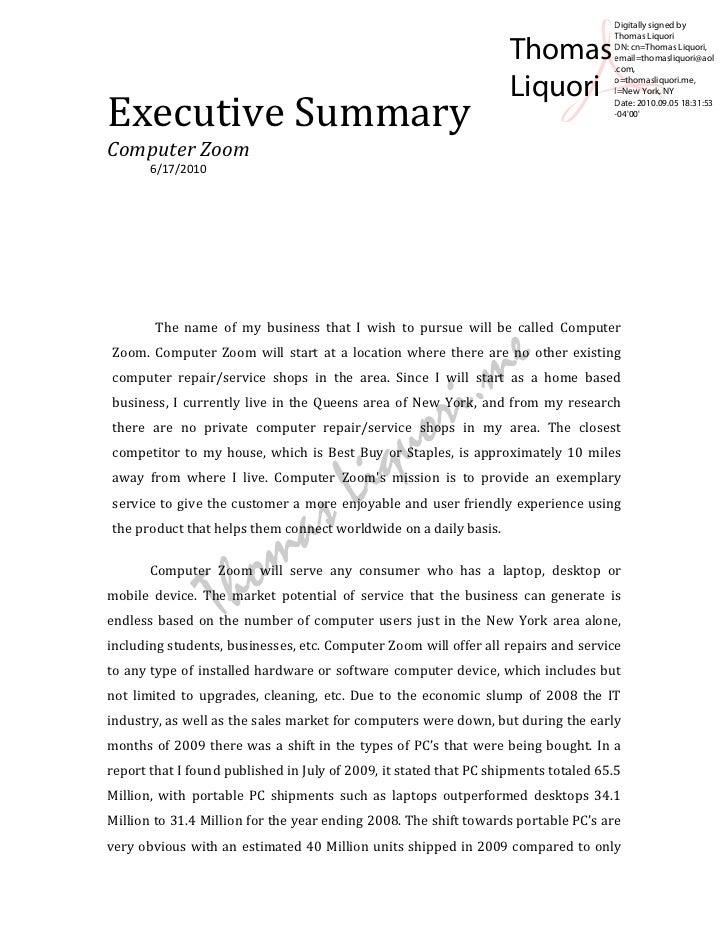 Executive Summary ...  Executive Brief Template