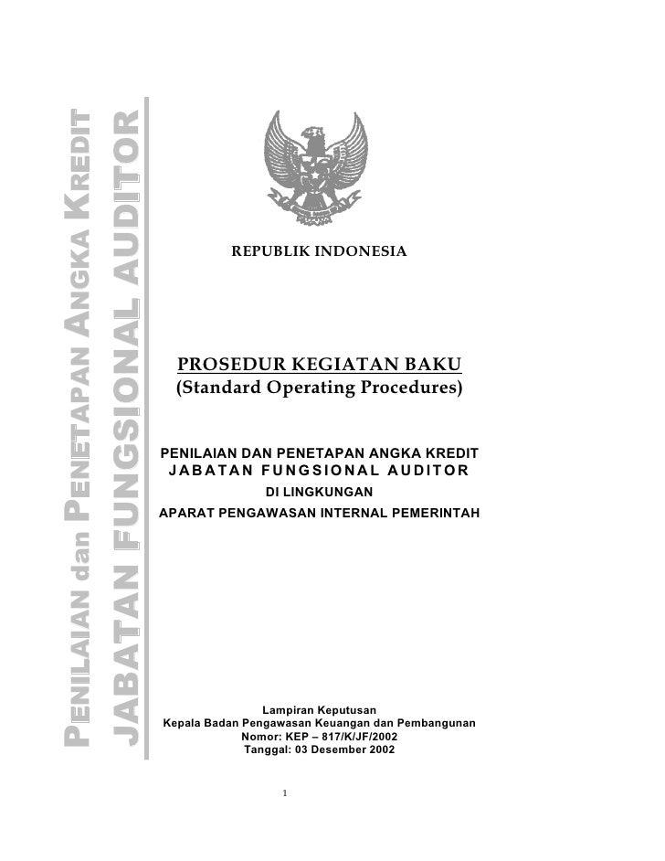 PENILAIAN dan PENETAPAN ANGKA KREDITJABATAN FUNGSIONAL AUDITOR                                                 REPUBLIK IN...