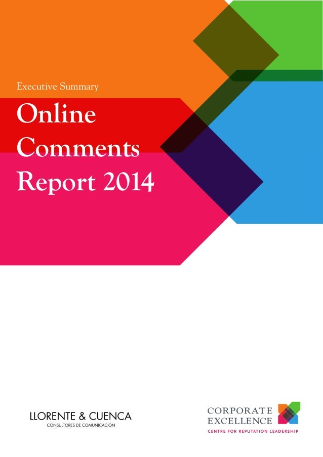Executive Summary Online Comments Report 2014