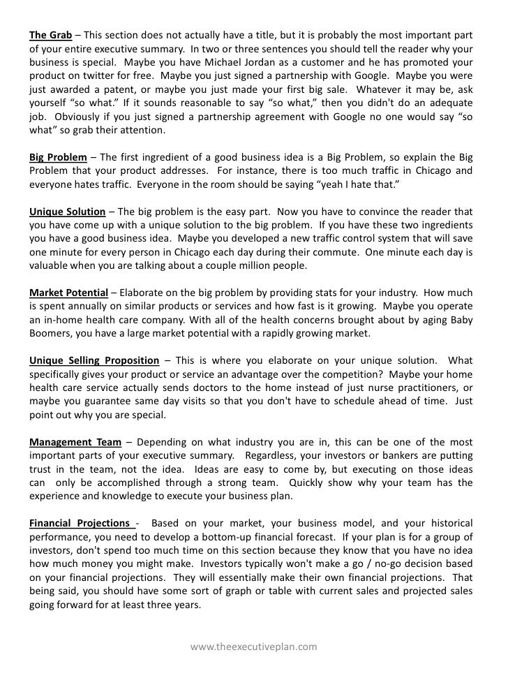 Executive Summary Templates Sample Executive Summary Executive