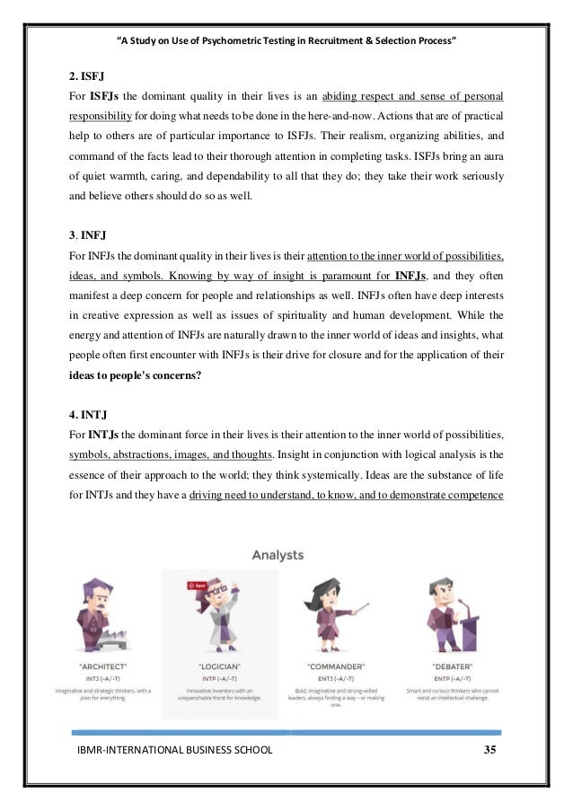 Use Of Psychometric Testing In Recruitment & Selection Process Execut…