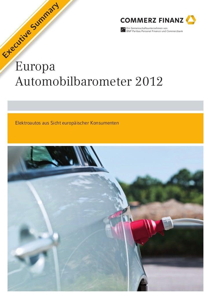 y                ar             m            m         Su     e    iv    ut  ecEx   Europa   Automobilbarometer 2012   Ele...
