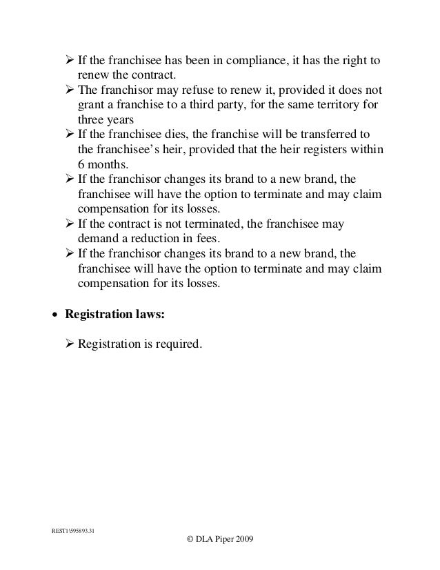 summary of reacquired franchise rights Franchisor may include a summary opinion of counsel concerning the action if the attorney's consent to the use of the summary the typical length of time between the signing of the franchise agreement or the first payment of consideration for the been reacquired by the franchisor or v been reasonably known by the.