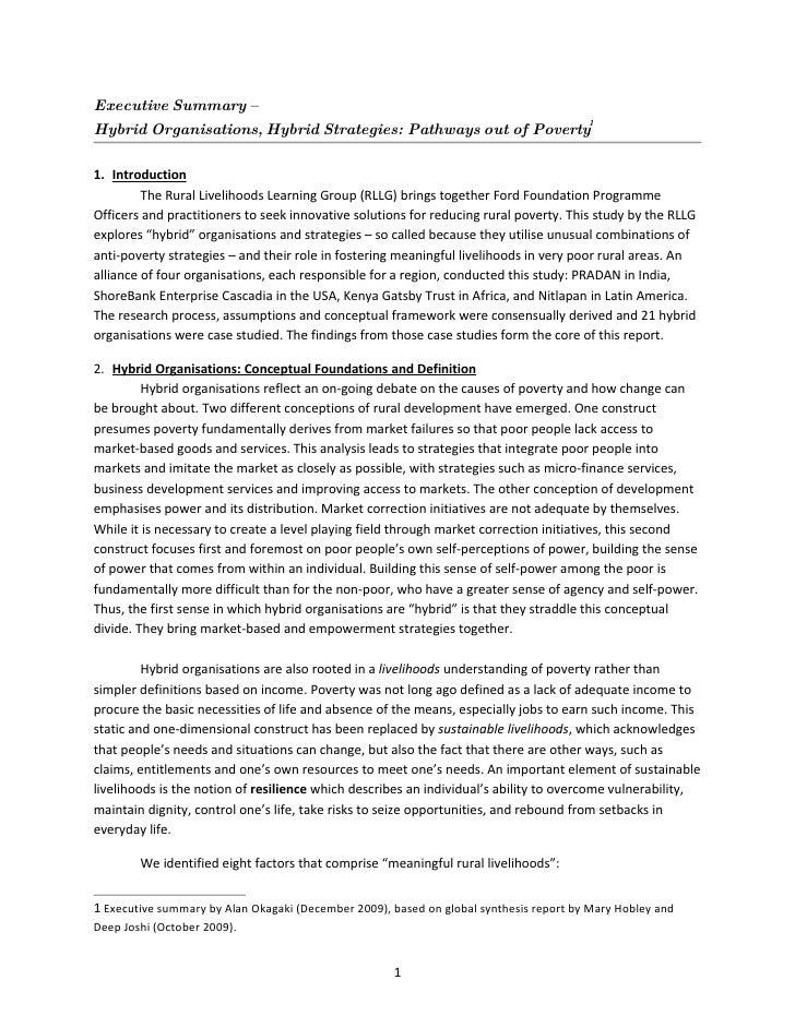 exec summary hybrids synthesis report  dec 09