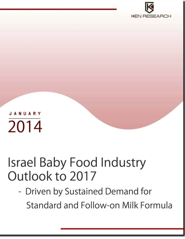 TABLE OF CONTENTS 1.  Israel Baby Food Industry Introduction and Size, 2007-2012  2.  Israel Baby Food Market Segmentation...