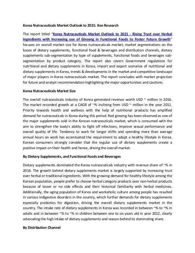 Probiotic Nutrition Market Korea, Digestive Food Market