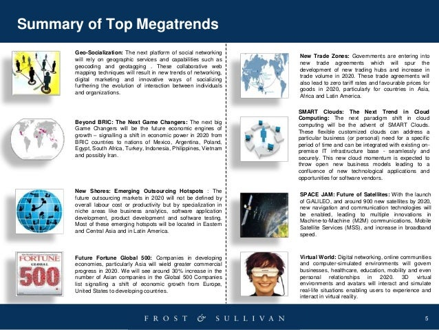 5 Summary of Top Megatrends Beyond BRIC: The Next Game Changers: The next big Game Changers will be the future economic en...