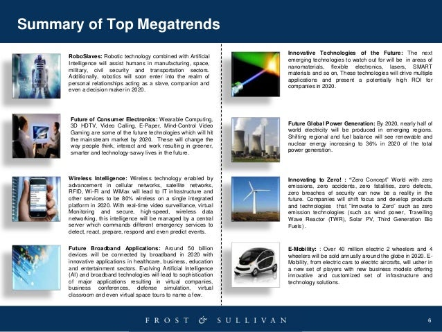 6 Summary of Top Megatrends Future of Consumer Electronics: Wearable Computing, 3D HDTV, Video Calling, E-Paper, Mind-Cont...