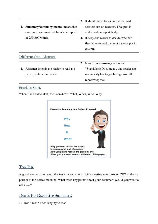 executive summary memo - Ideal.vistalist.co