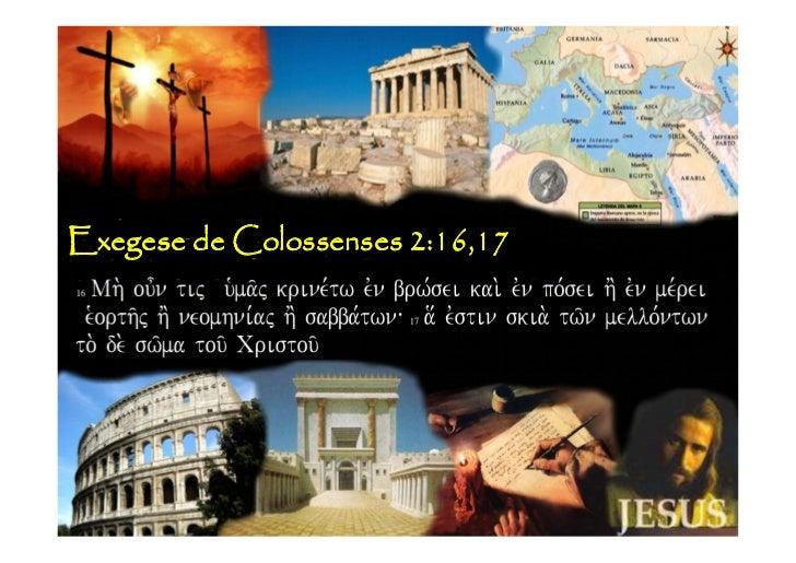 Exegese de Colossenses 2:16,17