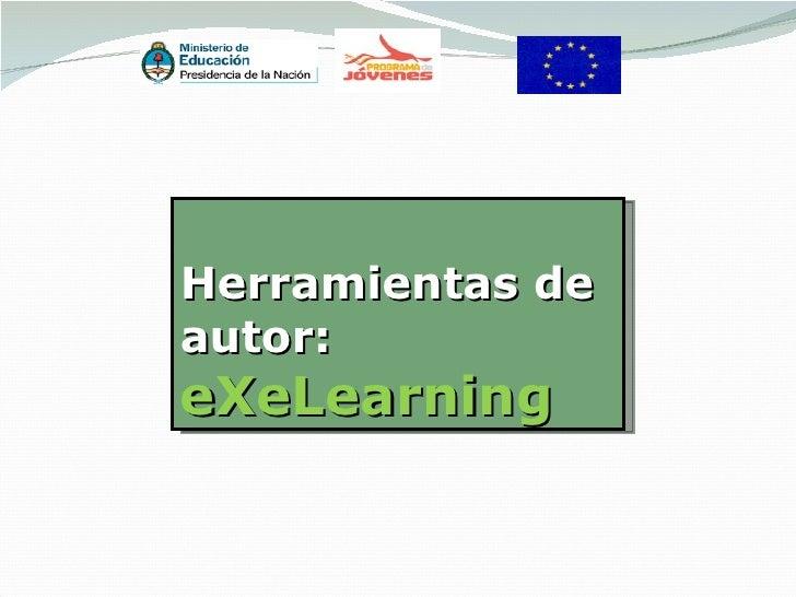 Herramientas deautor:eXeLearning