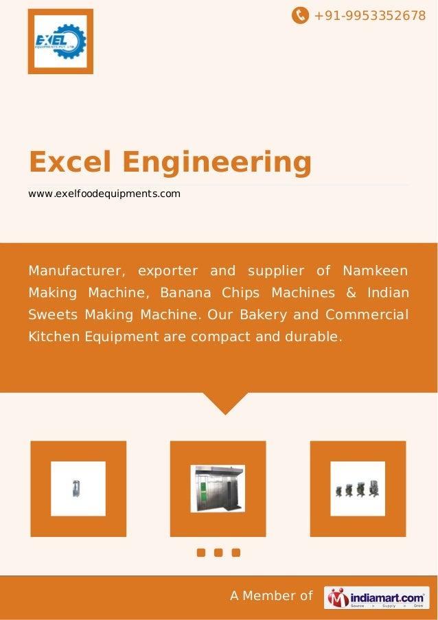 +91-9953352678  Excel Engineering www.exelfoodequipments.com  Manufacturer, exporter and supplier of Namkeen Making Machin...