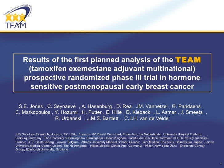 Results of the first planned analysis of the  TEAM  (tamoxifen exemestane adjuvant multinational) prospective randomized p...