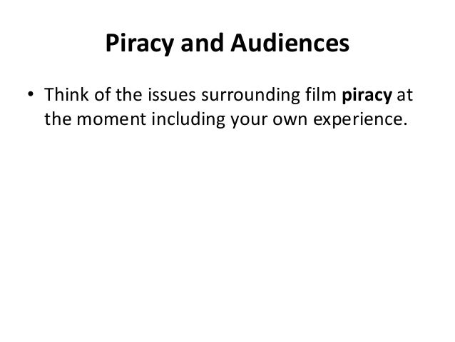 media piracy essay I'm writing an essay on why piracy should be legal help (don't call it piracy) your only argument really is that digital media should all be free.
