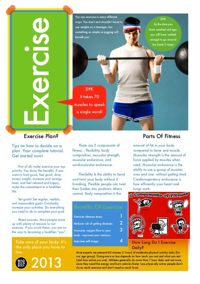 Exercise  You can exercise in many different    Exercise Plan?  Tips on how to decide on a plan. Your complete tutorial...