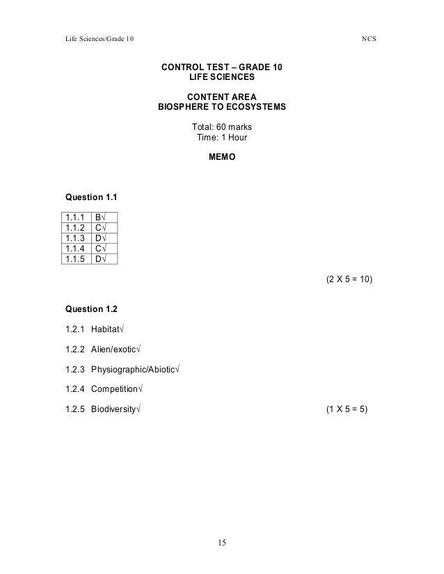 Exemplars tests, practicals & projects