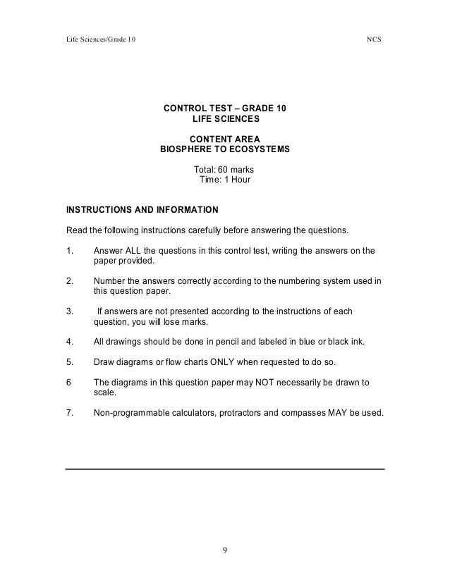 Life science essay questions grade 11 term 3 - Gr12 Life Orientation