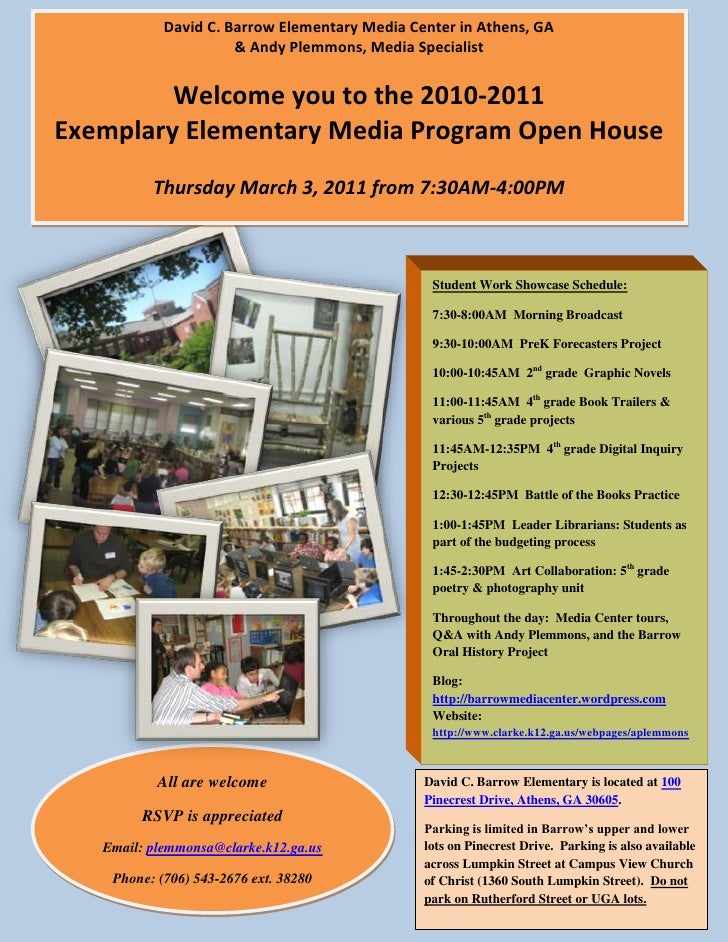 David C. Barrow Elementary Media Center in Athens, GA & Andy Plemmons, Media SpecialistWelcome you to the 2010-2011 Exempl...