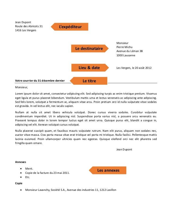 Jean DupontRoute des Abricots 31               L'expéditeur1416 Les Vergers                                               ...