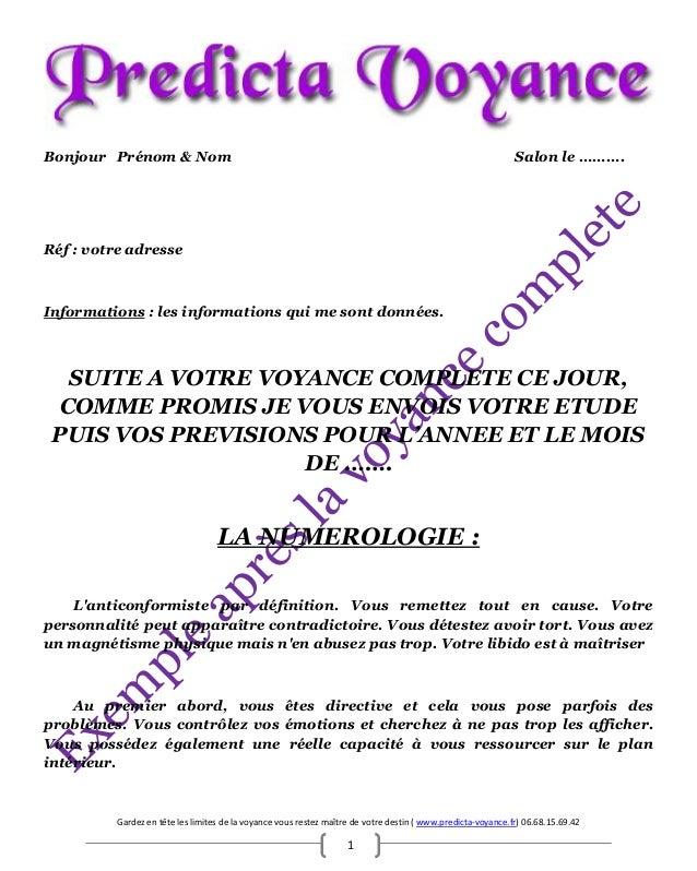 Gardez en tête les limites de la voyance vous restez maître de votre destin ( www.predicta-voyance.fr) 06.68.15.69.42 1 Bo...