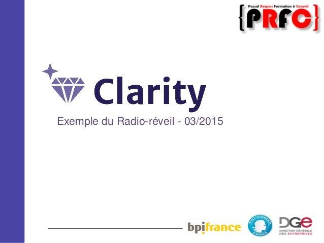 Exemple du Radio-réveil - 03/2015