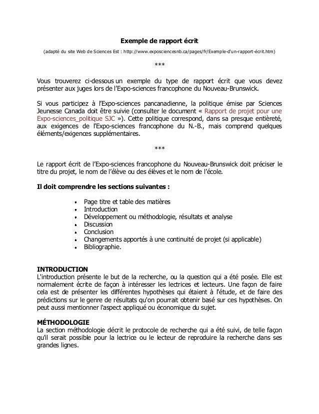 Exemple De Rapport De Projet Dun Site Web - Le Meilleur ...
