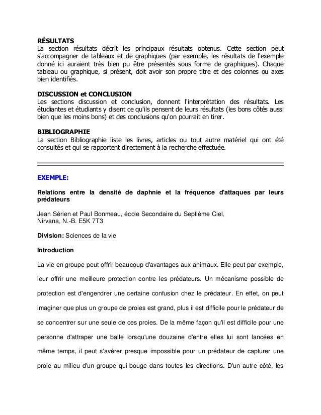 Exemple de rapport ecrit