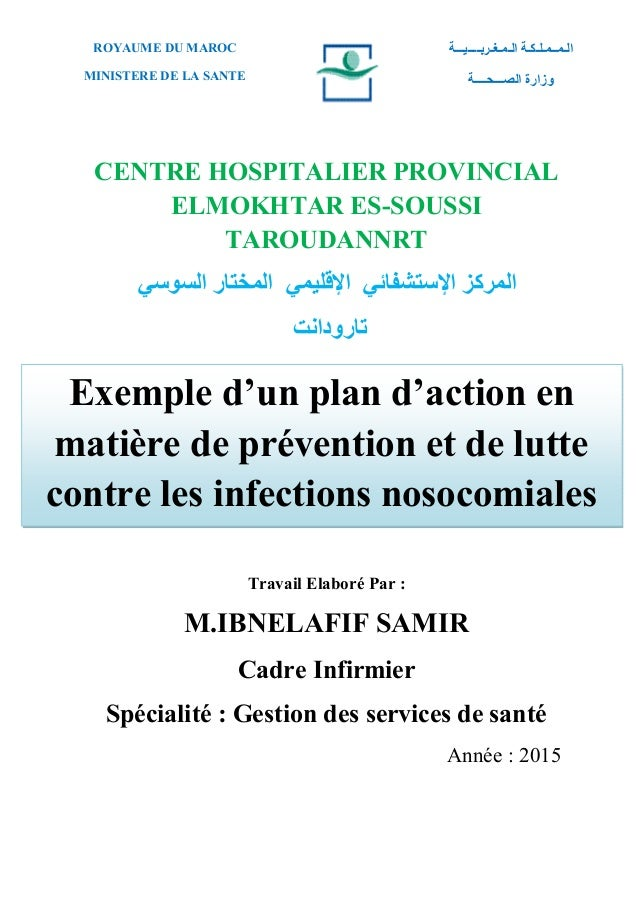 Exemple D Un Plan D Action En Matiere De Prevention Et De Lutte Cont