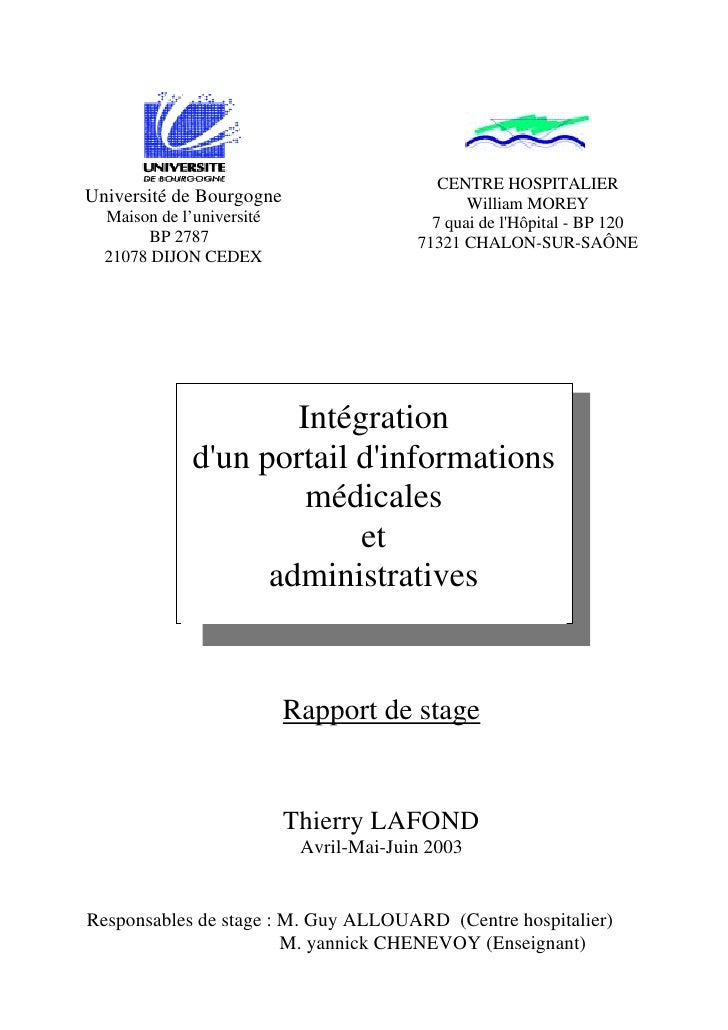 Exemple rapport - Page de garde rapport de stage open office ...