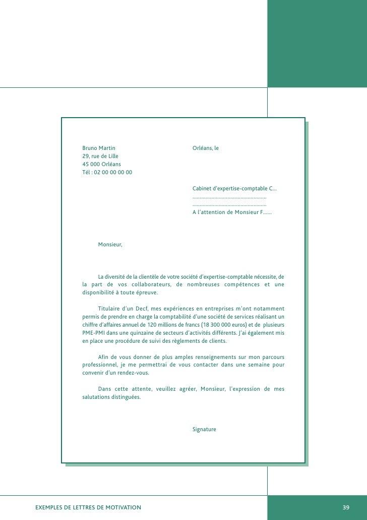 Exemples de lettres de motivation - Travailler en cabinet d expertise comptable ...