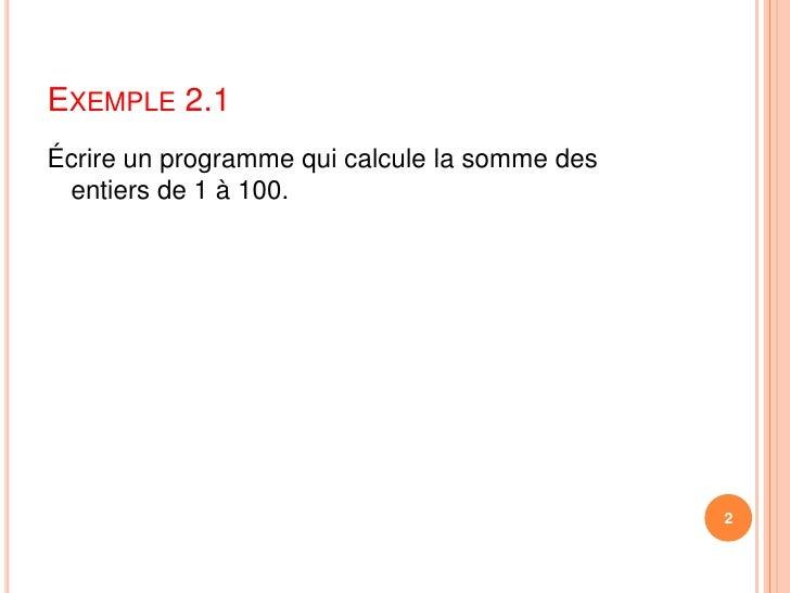 Exemples for1 Slide 2