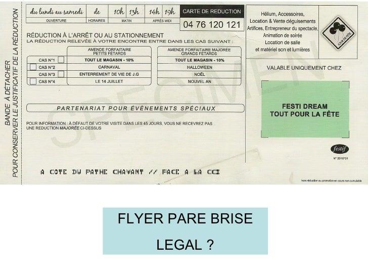 FLYER PARE BRISE    LEGAL ?