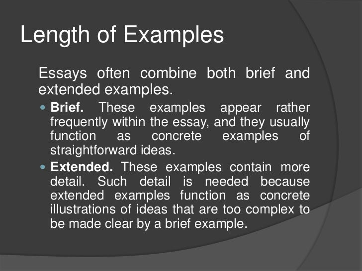 Sample exemplification essay