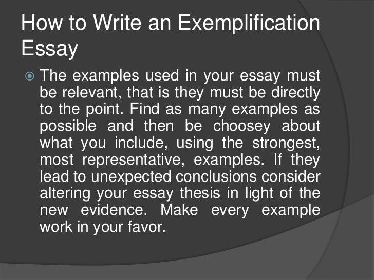 exemplary essay examples