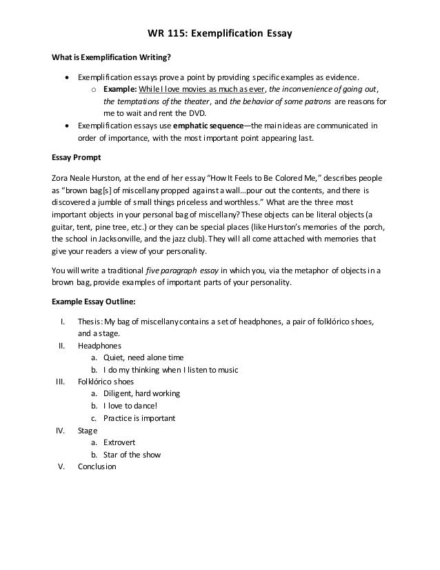 exemplification essays co exemplification essays