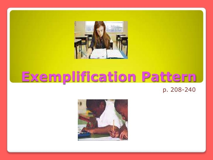 Exemplification essay pptx