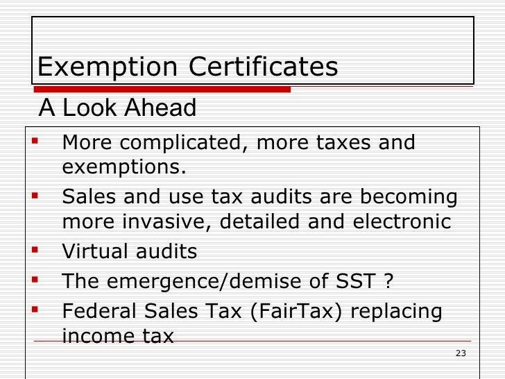 Exemption Certificate Management