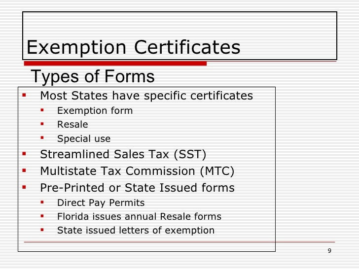 Exemption Certificate Management