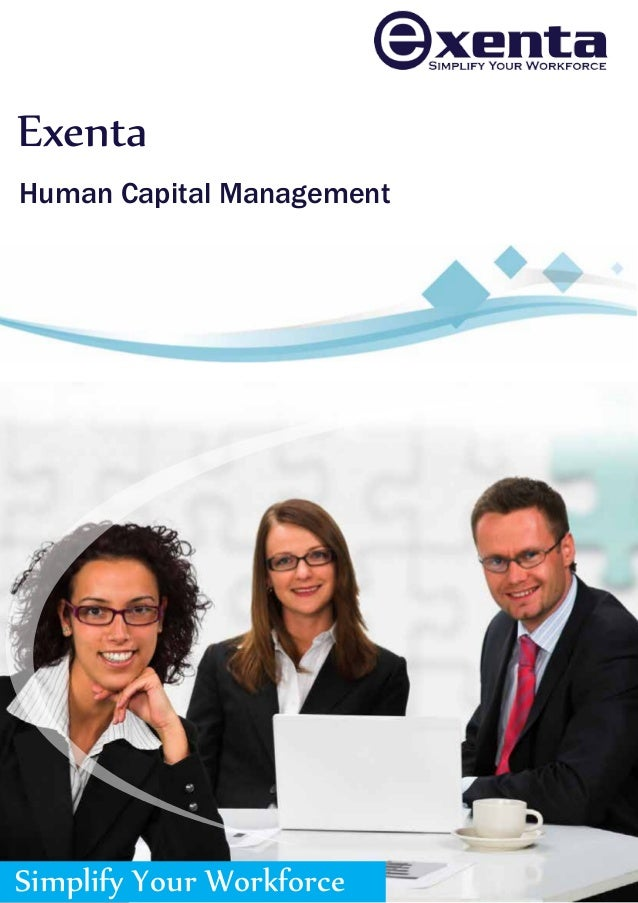 Exenta Human Capital Management  Simplify Your Workforce