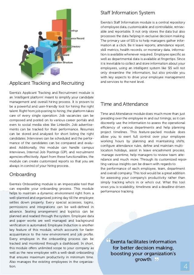 Exenta Hrms Software Brochure