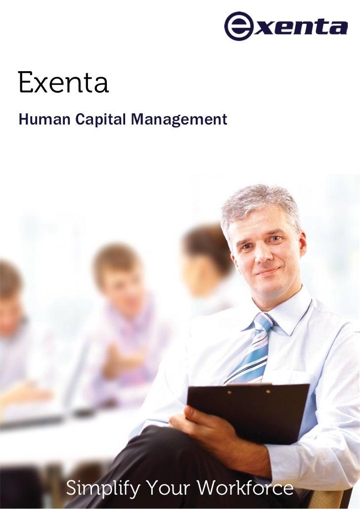 ExentaHuman Capital Management     Simplify Your Workforce