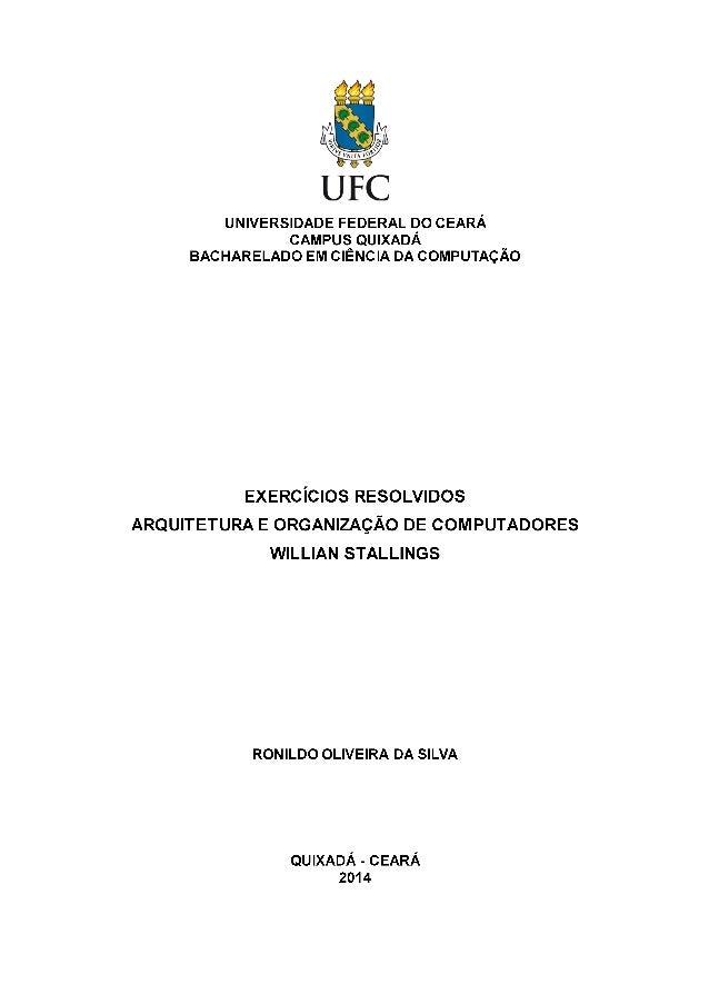 Exercícios Resolvidos - Arquitetura e Organização de Computadores