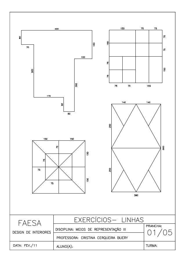 Exercícios de  cad 01