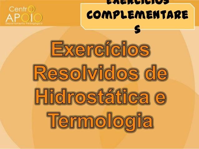 ExercíciosComplementares